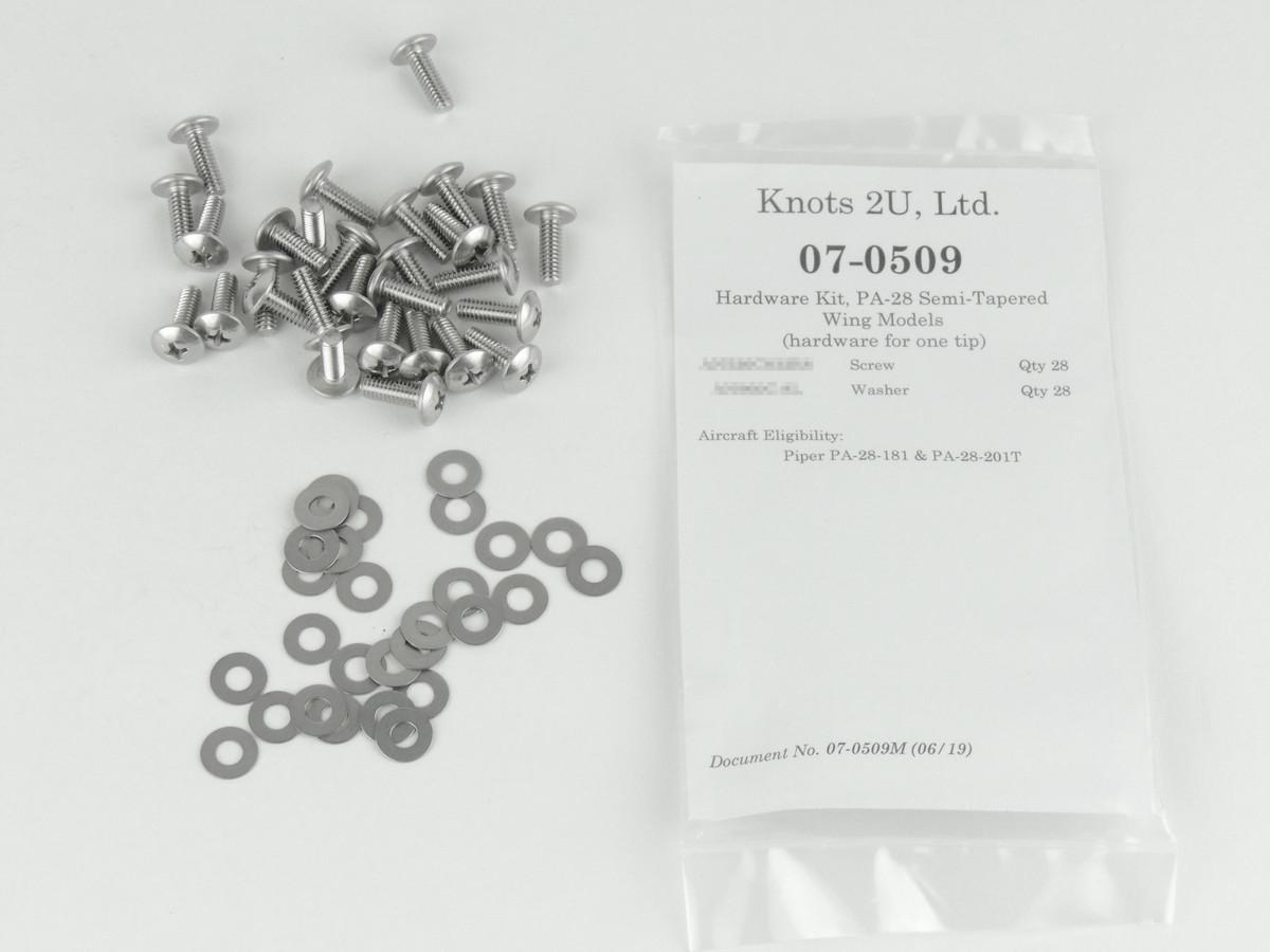 Wing Tip Hardware Kit, 56 pcs. Stainless Steel    Piper PA-28-181 & PA-28-201T. 07-0509