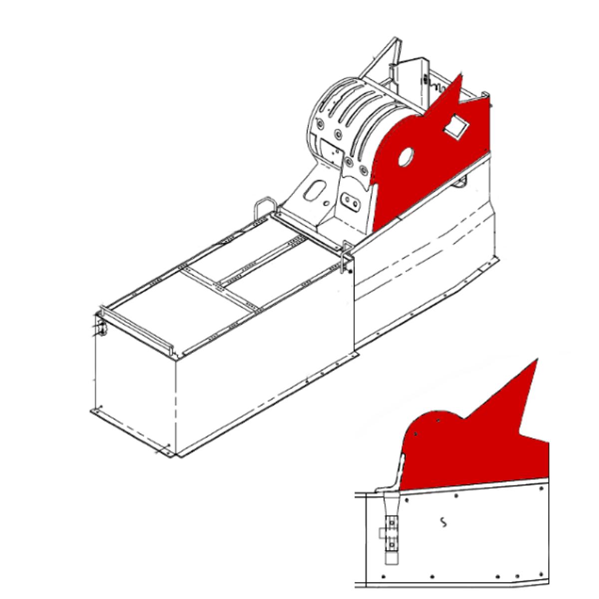 Panel Assy Upper LH/RH, Beechcraft 1900D, Part  114-530227-1, 114-530227-3