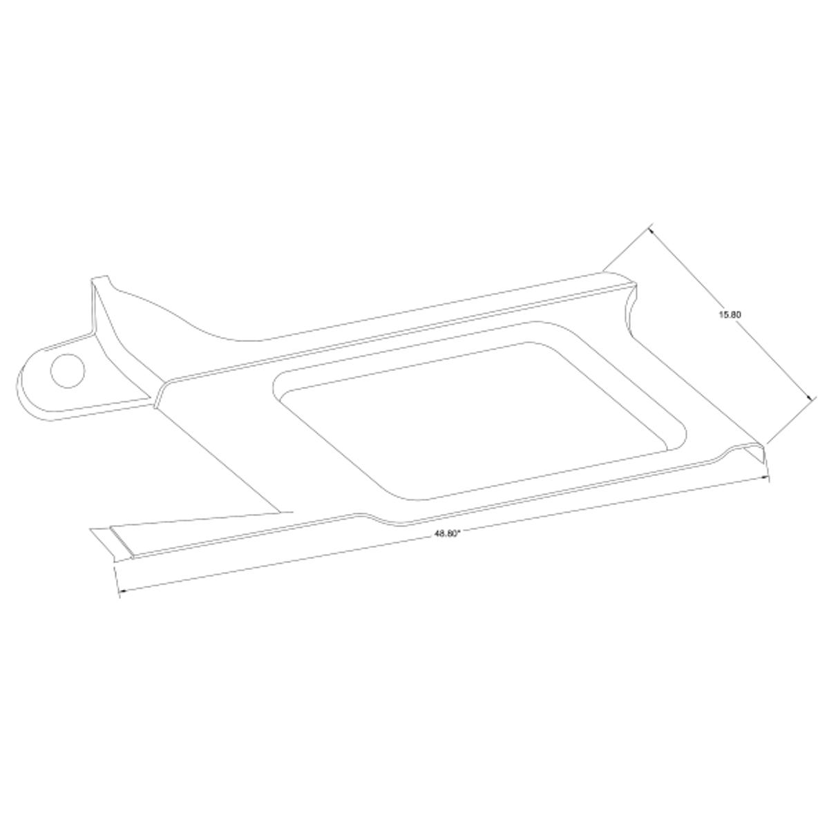 RH Forward Moulding, Cessna 206 part 1215105-1