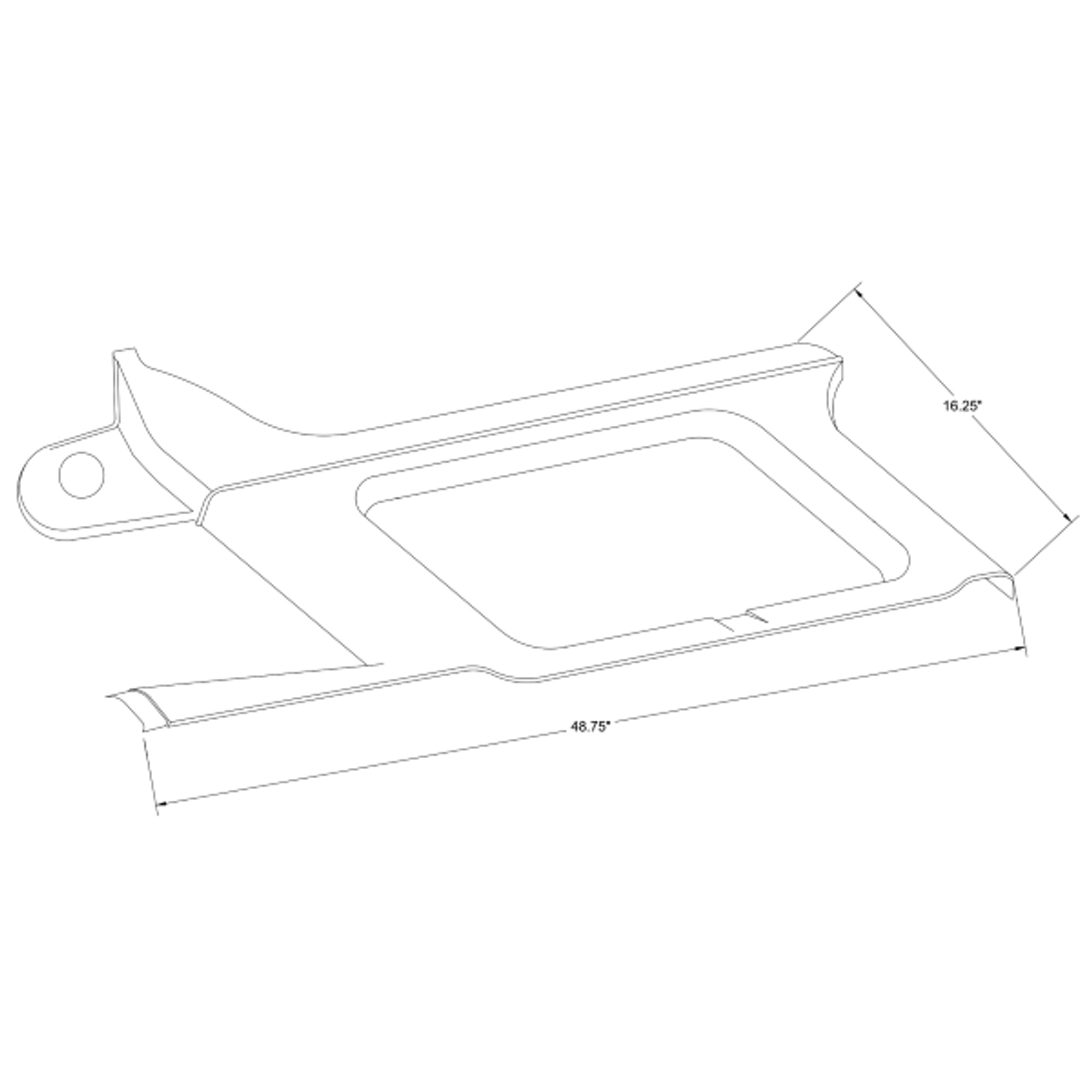 Forward Openable Window Moulding, Cessna 206 part 1215105-2