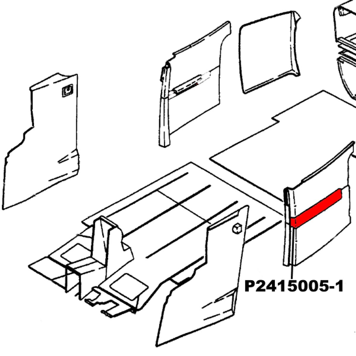 Armrest Support Assy - Rear LH/RH Cessna 172P,  Replaces Part 2415005-1, 2415005-2