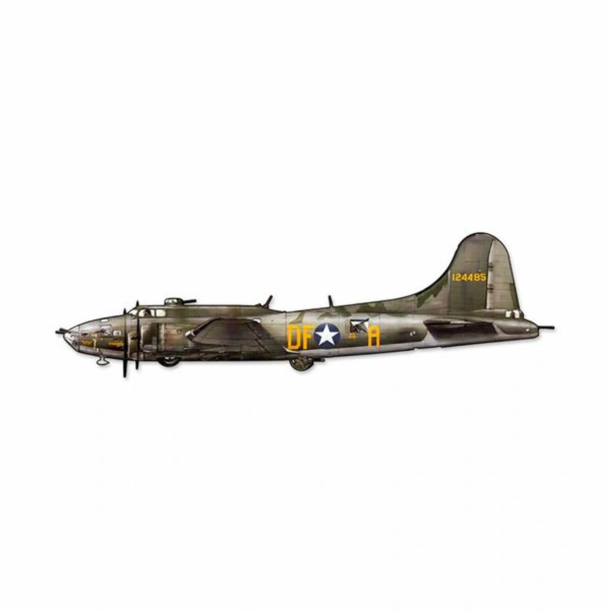 """Boeing B-17 Flying Fortress Cutout Metal Sign. Measures 24"""""""