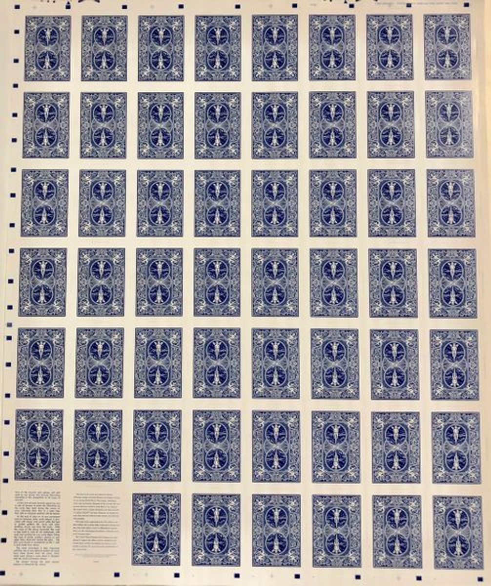Uncut Sheet of WWII Bicycle Brand Aircraft Spotter Cards.
