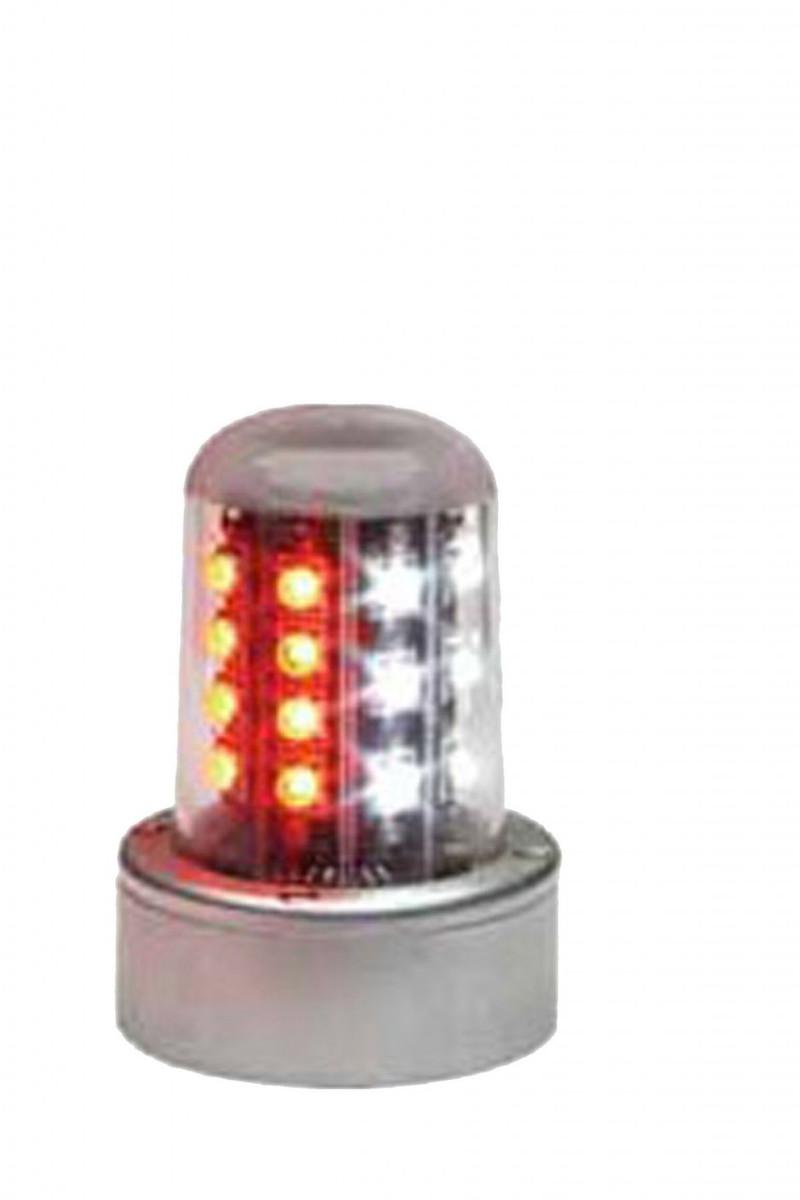 Whelen 9052001 LED Beacon Red/White 28VDC and Mount