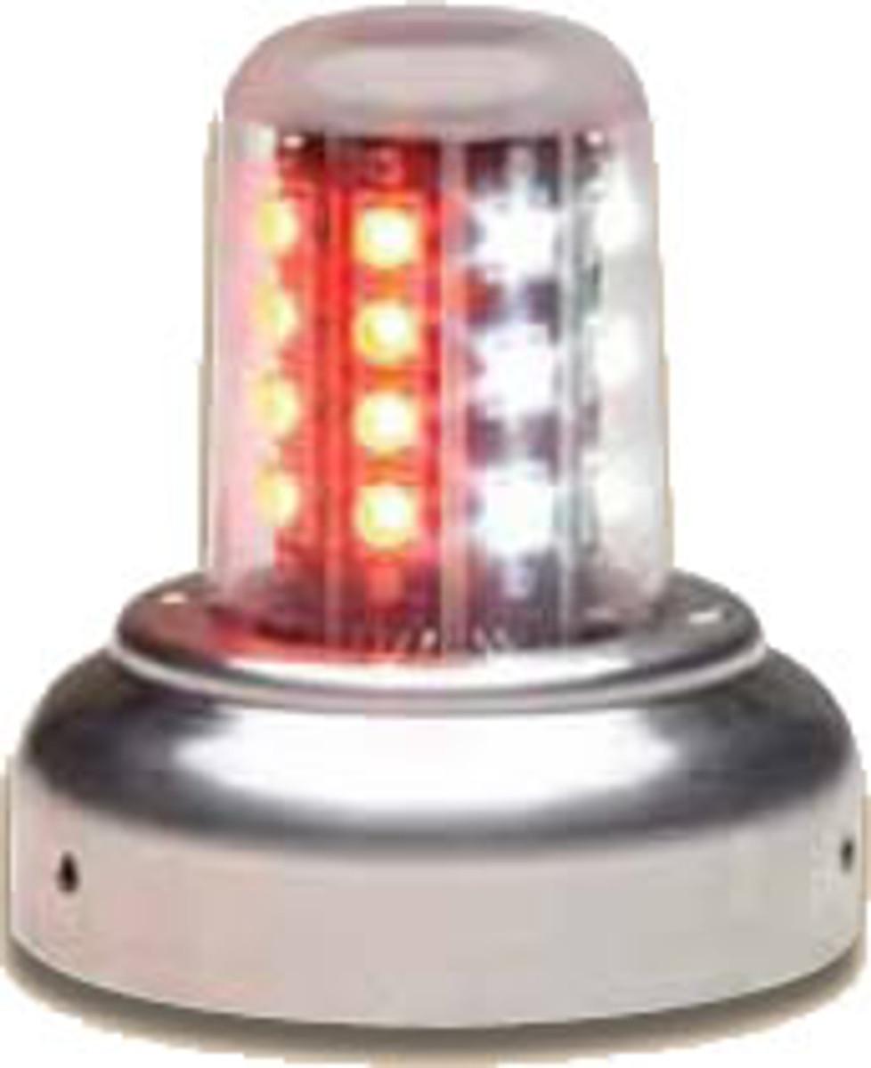 """Whelen 9052005 LED Beacon 3 3/4"""" Base Red/White 28VDC"""