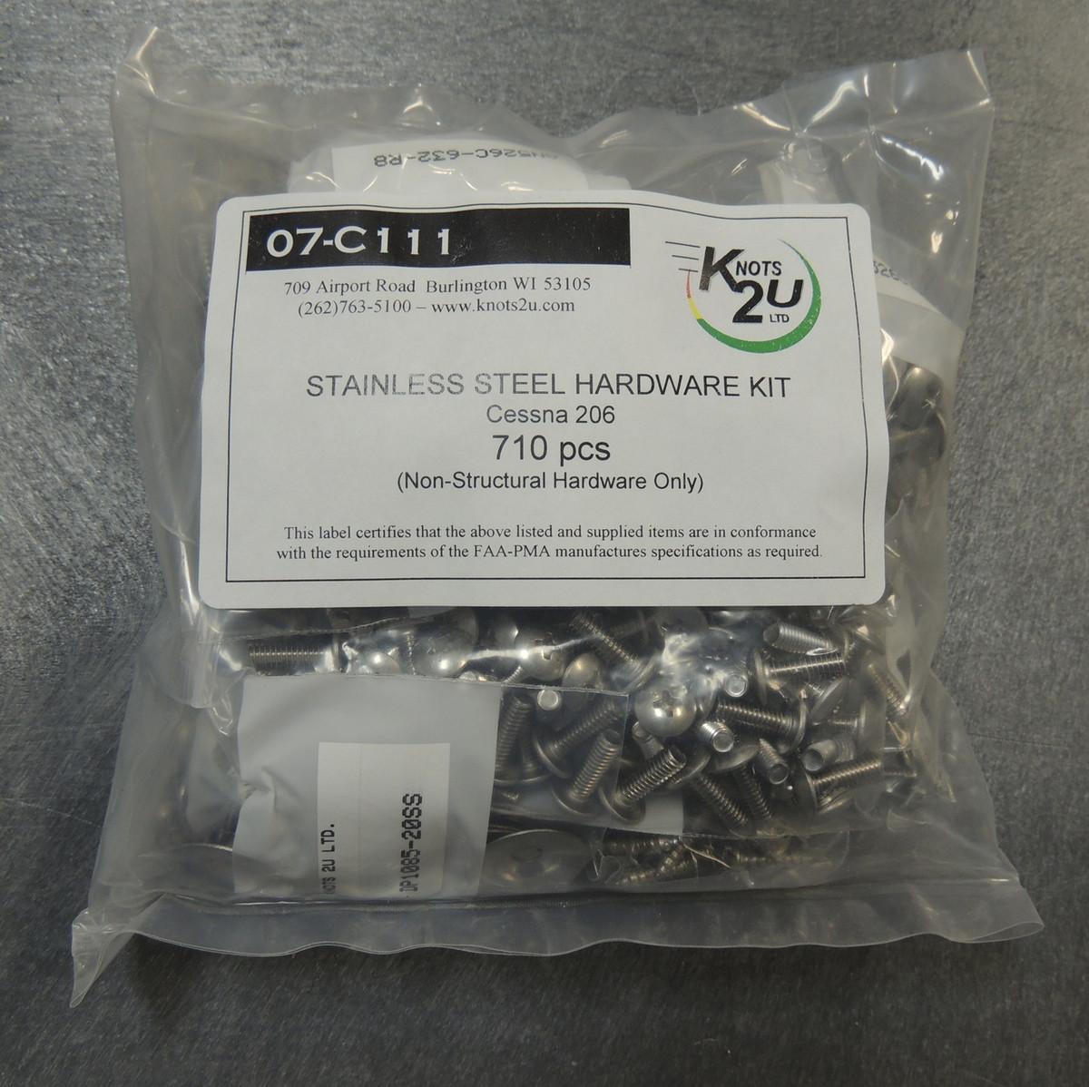 710 Pcs. Cessna 206 Stainless Steel Hardware Kit
