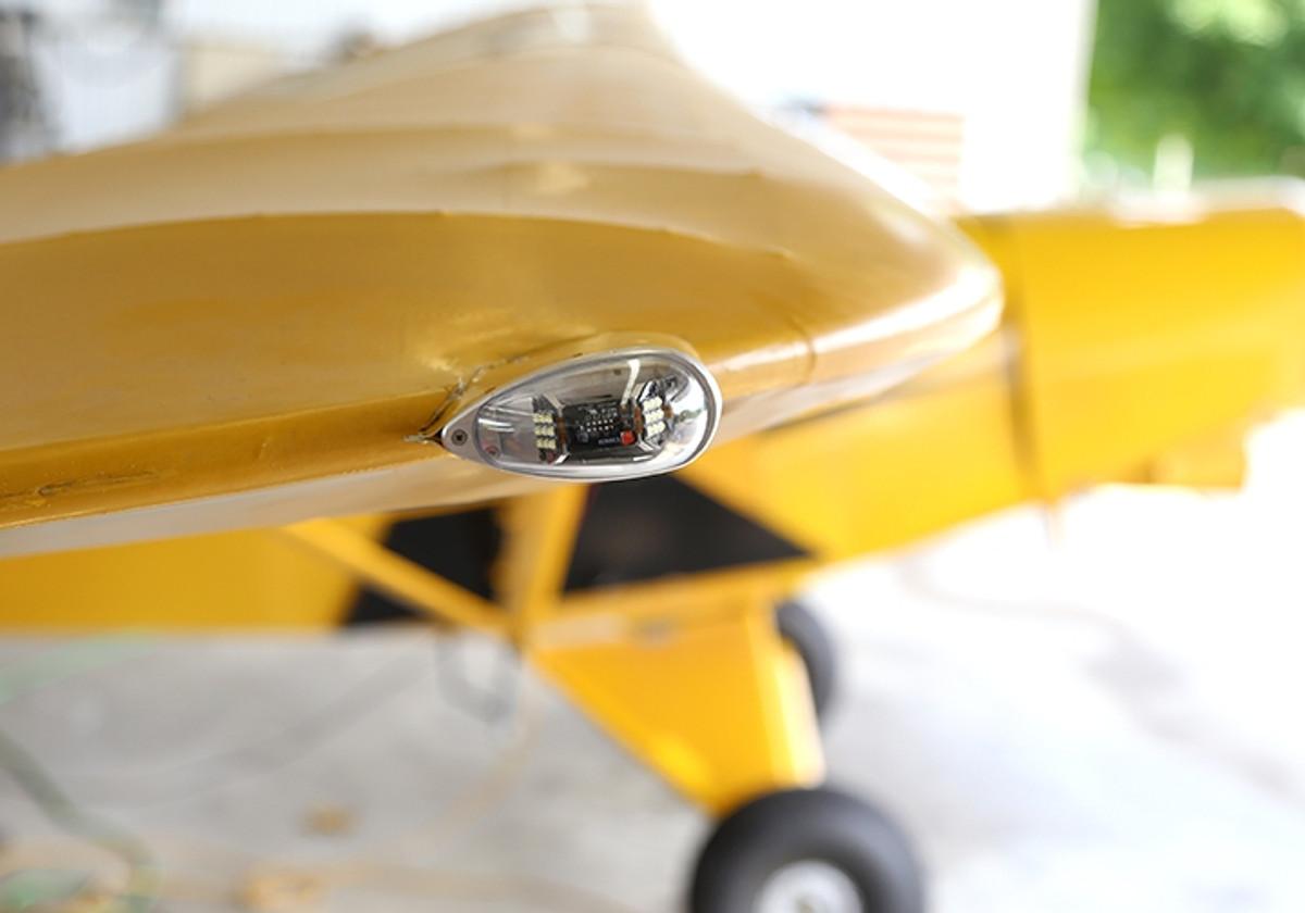 Whelen Orion wing tip LED lights.