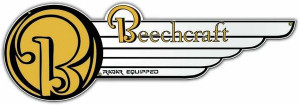"Beechcraft Metal Sign, with  ""Radar Equipped"" Measures 27"" X 9"""