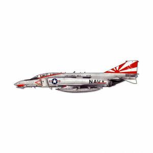"McDonnell F-4 Phantom II Cutout Metal Sign. Measures 23 1/2"" overall."