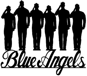 """BLUE ANGELS """"PILOTS"""" LASER CUT METAL SIGN Measures 16 x 14 inches sign."""