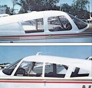 Piper PA-28 3rd Window STC. Isham