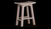 LATSON WOODEN BAR STOOL / KITCHEN BENCH (BR067WD) - SEAT: 670(H) - WHITE