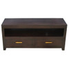 MILAN  2 DRAWER LOW ENTERTAINMENT UNIT ( SB 002 PNM) -  540(H) x 1200(W)-MAHOGANY OR CHOCOLATE(PICTURED)
