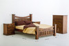 ROYAL (205) QUEEN 4 PIECE TALLBOY BEDROOM SUITE - NATURAL STAIN