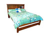 QUEEN BOOKEND DELUXE BED (AUSSIE MADE) (ABKD300) - ASSORTED COLORS