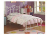 SINGLE SWEETHEART METAL BED - WHITE