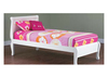 SINGLE COPENHAGEN SLEIGH BED - ARCTIC WHITE