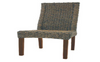 MADRID (VACH-08-WH) HYACINTH CHAIR WITH LIGHT HONEY LEGS