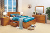 CLAREMONT DOUBLE OR QUEEN 5 PIECE DRESSER BEDROOM SUITE WITH 4 UNDER BED DRAWERS -  CHOICE OF COLOURS