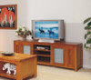 JOESUN TV UNIT WITH 2 DOORS, LEGS AND 2 DVD PULLOUTS -  650(H) X 2000(W)  - CHOICE OF COLOURS
