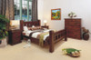 RUSTIC DOUBLE 4 PIECE TALLBOY BEDROOM SUITE