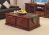 RUSTIC COFFEE TABLE WITH 2 DRAWERS - 1200(W) X 700(D)