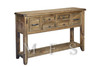 HERITAGE 6 DRAWER HALL TABLE (HTG6DHT) - 925(H) X 1520(W) X 390(D) - GREY WASH (#501)
