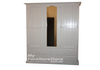 MUDGEE 3 DOOR 4 DRAWER MIRROR WARDROBE - 1900(H) X 1300(W) - ASSORTED PAINTED COLOURS