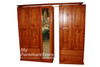 MUDGEE 5 DOOR WARDROBE WITH 4 DRAWERS - 1900(H) X 2000(W)  - WHITE OR ANTIQUE WHITE (NOT AS PICTURED)