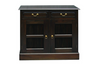 RUJI 2  DOOR 2 DRAWER BUFFET (  SB 202 DW) -900(H) X 1000(W) - MAHOGANY OR CHOCOLATE