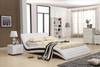 TORENIO (3009) QUEEN 3 PIECE BEDSIDE BEDROOM SUITE (WITH #25 BEDSIDES) - LEATHERETTE - WHITE