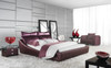 QUEEN RHO LEATHERETTE BED (A9973) - ASSORTED COLOURS