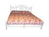 DOUBLE BIANCAS METAL BED - WHITE OR SILVER