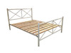 DOUBLE MADRID METAL BED - ASSORTED COLOURS