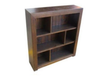 DERBY STAGGERED LOWLINE BOOKCASE WITH BACK (3x2) - 900(H) X 600(W) - ASSORTED COLOURS