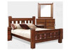 KING SPRING BED AND SLATS - ROUGH SAWN (1211)