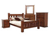 SPRING DOUBLE OR QUEEN 6 PIECE (THE LOT) BEDROOM SUITE - ROUGH SAWN