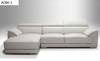MARY (A096) 3 SEATER + CHAISE LEATHER LOUNGE  SUITE - ASSORTED COLOURS AVAILABLE