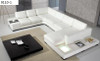 ICE (9110-1) CORNER LOUNGE  LEATHER SUITE - ASSORTED COLOURS