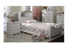 SINGLE MILA (LS-013) BOOKEND BED WITH SINGLE TRUNDLE (MODEL 16-9-1-14-9-19-20) - IVORY WHITE