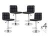 LANCER (BARS-37BK)   4  x  PIECE OF FULL GRID  KITCHEN BAR STOOLS - SEAT: 950 - 1160(H) - BLACK
