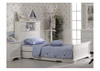 SINGLE ISABELLA (LS-155) BED (EXCLUDING TRUNDLE) - IVORY WHITE