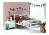 SINGLE NIKKI (NIKSBWH/DW) BED WITH SINGLE TRUNDLE BED (NIKTRBWH/DW) - WHITE  OR  WALNUT