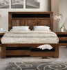 QUEEN TOLEDO BED (TOLQB) WITH  DRAWERS - ANTIQUE COFFEE STAIN