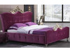 QUEEN GADINE FABRIC  BED  (MODEL-A04) -  ASSORTED COLOURS
