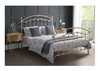 KING KATRINA CAST AND WROUGHT IRON BED - WHITE
