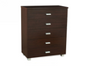CONCORD 5 DRAWER TALLBOY -  1000(H) X 750(W) - WALNUT