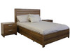 LOS ANGELES DOUBLE OR QUEEN 3 PIECE BEDSIDE  BEDROOM SUITE -  BLACKWOOD OR WENGE