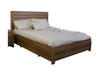 LOS ANGELES DOUBLE  BED WITH DRAWER -  BLACKWOOD OR WENGE