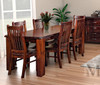 HERITAGE (HTG7P-1.8) 7 PIECE DINING SETTING (WITH 6 DINING CHAIRS) - 1800(L) x 1050(W) - GREY WASH (#501) OR WALNUT (219)